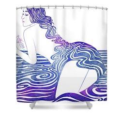 Water Nymph Xix Shower Curtain