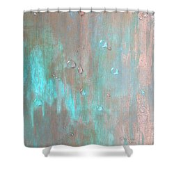 Water On Copper Shower Curtain