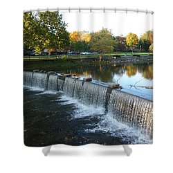 Water Over The Dam Shower Curtain