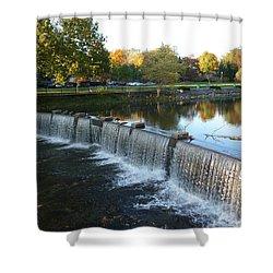 Water Over The Dam Shower Curtain by Joel Deutsch