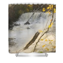 Water Over The Dam. Shower Curtain
