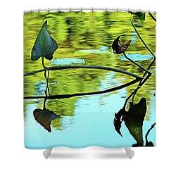 Water Plants Shower Curtain by Debbie Oppermann