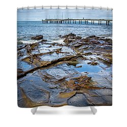 Shower Curtain featuring the photograph Water Pool by Perry Webster