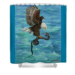 Shower Curtain featuring the painting Water Protector by Darice Machel McGuire