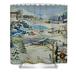 Water Pump In Winter - Sold Shower Curtain