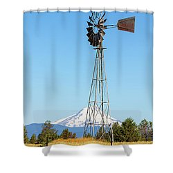 Water Pump Windmill In Central Oregon Farm Shower Curtain by David Gn