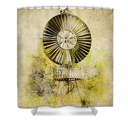 Shower Curtain featuring the photograph Water-pumping Windmill by Heiko Koehrer-Wagner
