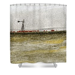 Water, Ranching, And Cattle Shower Curtain by R Kyllo