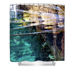 Shower Curtain featuring the photograph Water Reflections by Francesca Mackenney