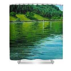 Water Reflections Shower Curtain by Nolan Clark