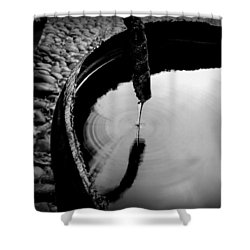 Water Rings Shower Curtain