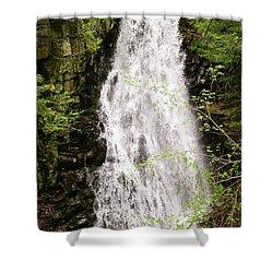 Water Roaring Down Cascade Falls, Farmington, Maine  -30377 Shower Curtain