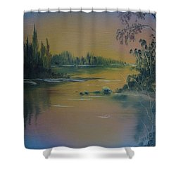 Water Scene 2a Shower Curtain