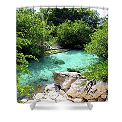 Shower Curtain featuring the photograph Water Shallows by Francesca Mackenney