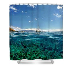 Shower Curtain featuring the photograph Water Shot by Michael Albright
