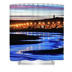 Water Snake Shower Curtain by Bernardo Galmarini