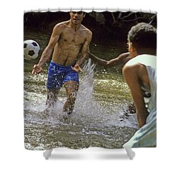 Water Soccer Shower Curtain
