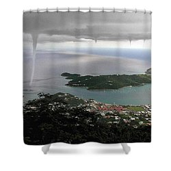 Water Spout Shower Curtain