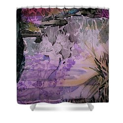 Shower Curtain featuring the painting Water Sprite by Mindy Newman
