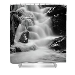 water stair in Ilsetal, Harz Shower Curtain by Andreas Levi