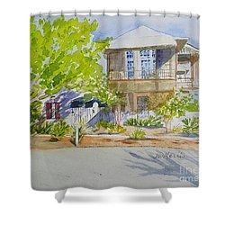 Water Street, Rosemary Beach Shower Curtain