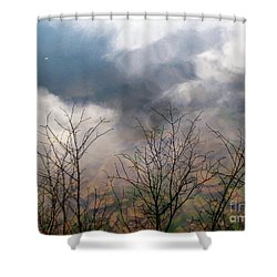 Water Study Shower Curtain