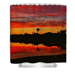 Winter Sunrise I Shower Curtain