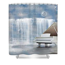 Water Synphony For Piano Shower Curtain