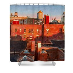 Water Towers At Sunset No. 3 Shower Curtain