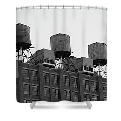 Water Towers Shower Curtain