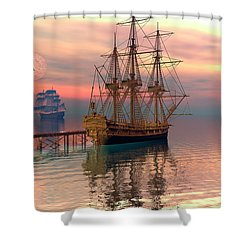 Water Traffic Shower Curtain
