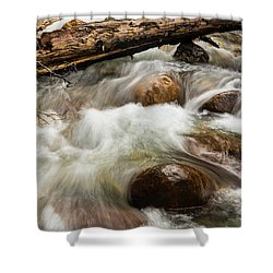 Shower Curtain featuring the photograph Water Under The Bridge by Alex Lapidus