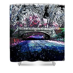 Water Under The Bridge Shower Curtain by Iowan Stone-Flowers
