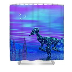 Shower Curtain featuring the photograph Water Walkers by Mark Blauhoefer
