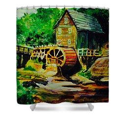Water Wheel Shower Curtain