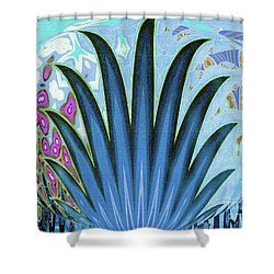 Water World Botanical Shower Curtain