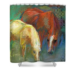 Shower Curtain featuring the painting Waterbreak by Frances Marino