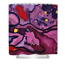Watercolor Abstraction Shower Curtain
