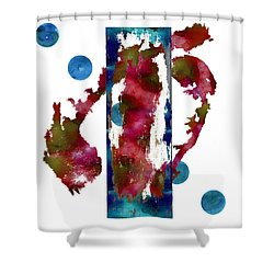Watercolor Abstract 1 Shower Curtain by Kandy Hurley