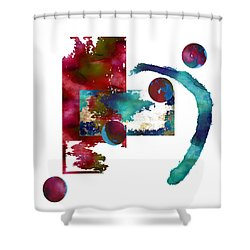 Watercolor Abstract 2 Shower Curtain by Kandy Hurley