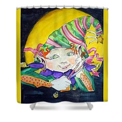 Elfin Artist Shower Curtain