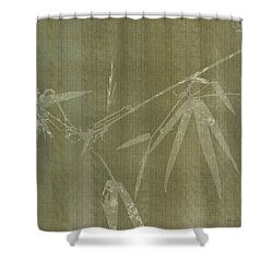 Watercolor Bamboo 01 Shower Curtain