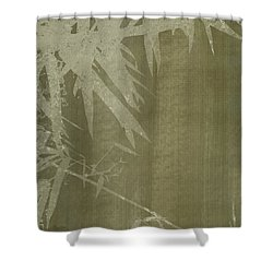 Watercolor Bamboo 02 Shower Curtain