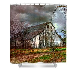 Watercolor Barn 2 Shower Curtain