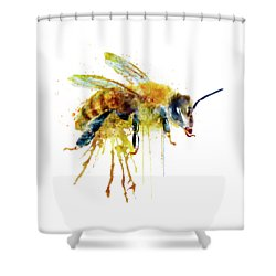 Watercolor Bee Shower Curtain