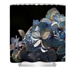 Watercolor Blue Hydrangea Blossoms 1203 W_2 Shower Curtain