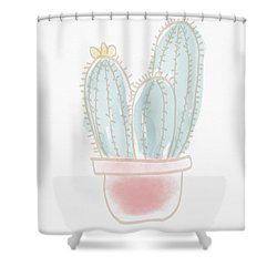 Watercolor Cactus- Art By Linda Woods Shower Curtain