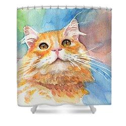 Watercolor Cat 05 Smile Cat Shower Curtain