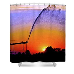Watercolor Irrigation Sunset 3243 W_2 Shower Curtain