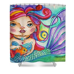 Watercolor Mermaidia Mermaid Painting Shower Curtain